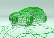 EV car green wires