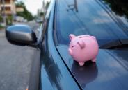 Piggy bank on car investment